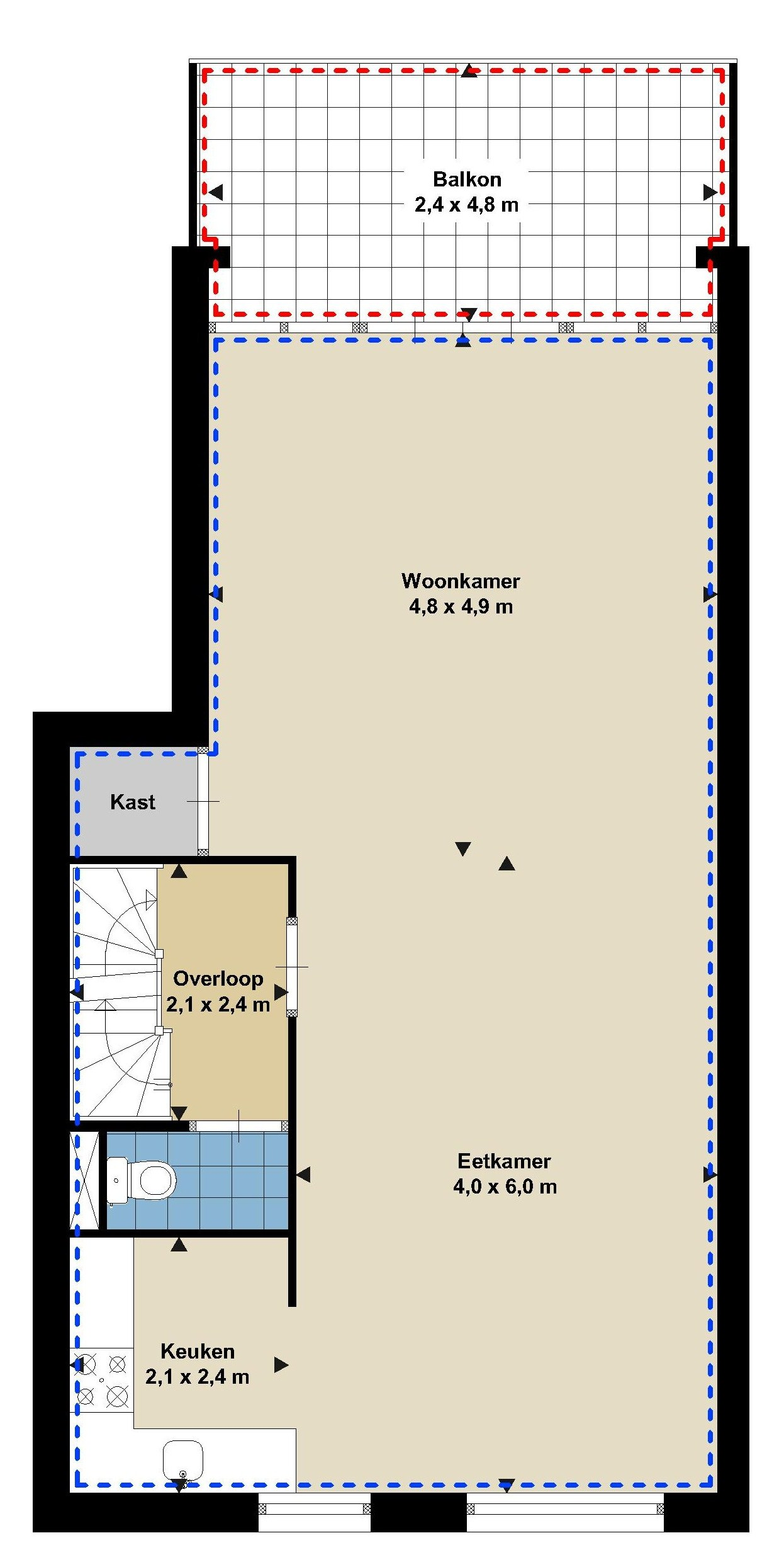 plattegrond huis verkopen